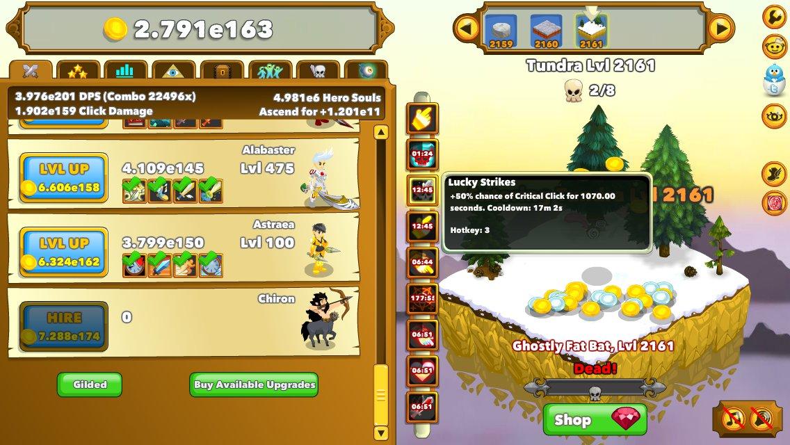 Clicker Heroes 2: un'avventura a portata di click