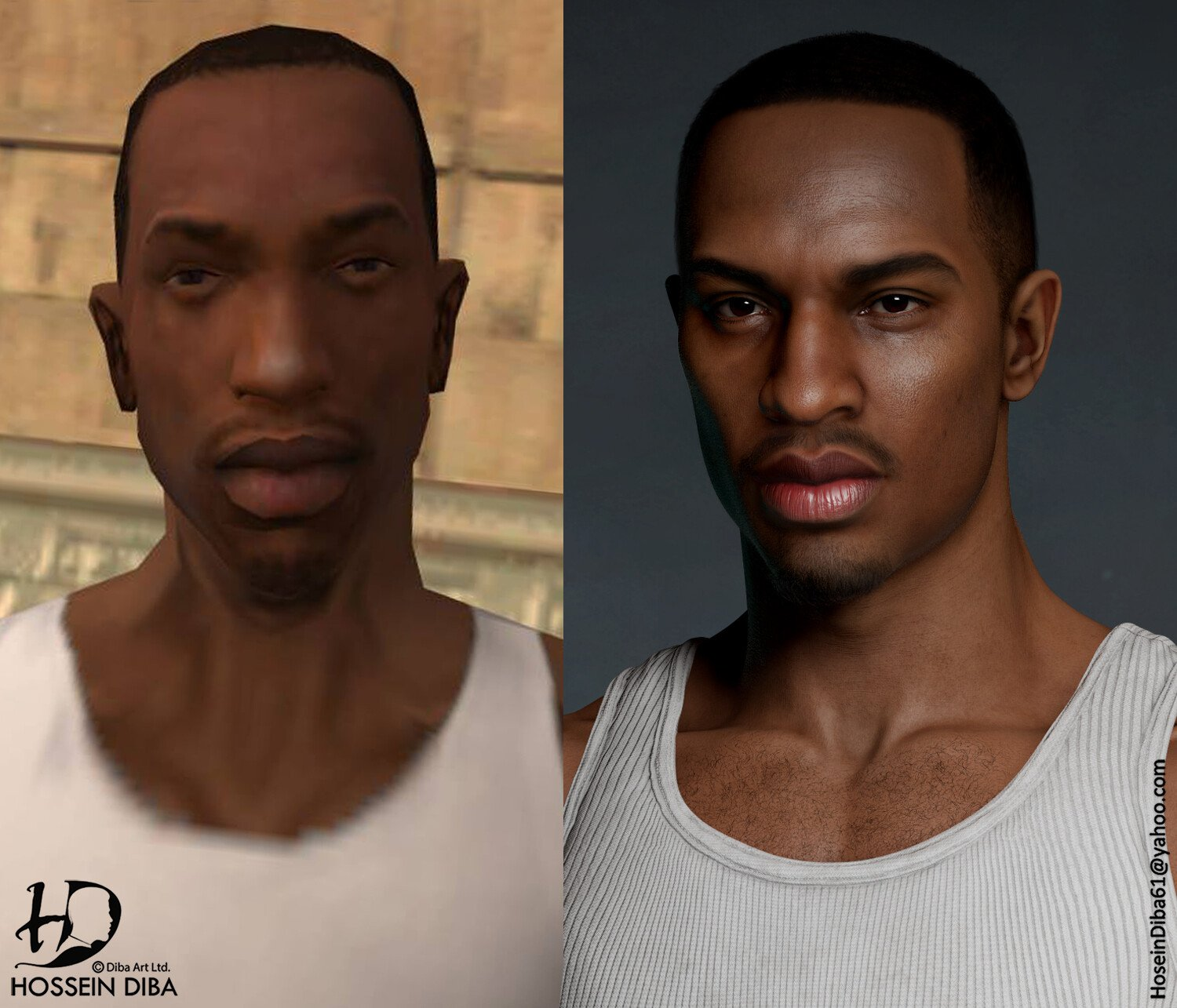 "Carl ""CJ"" Johnson (Grand Theft Auto: San Andreas) HD"