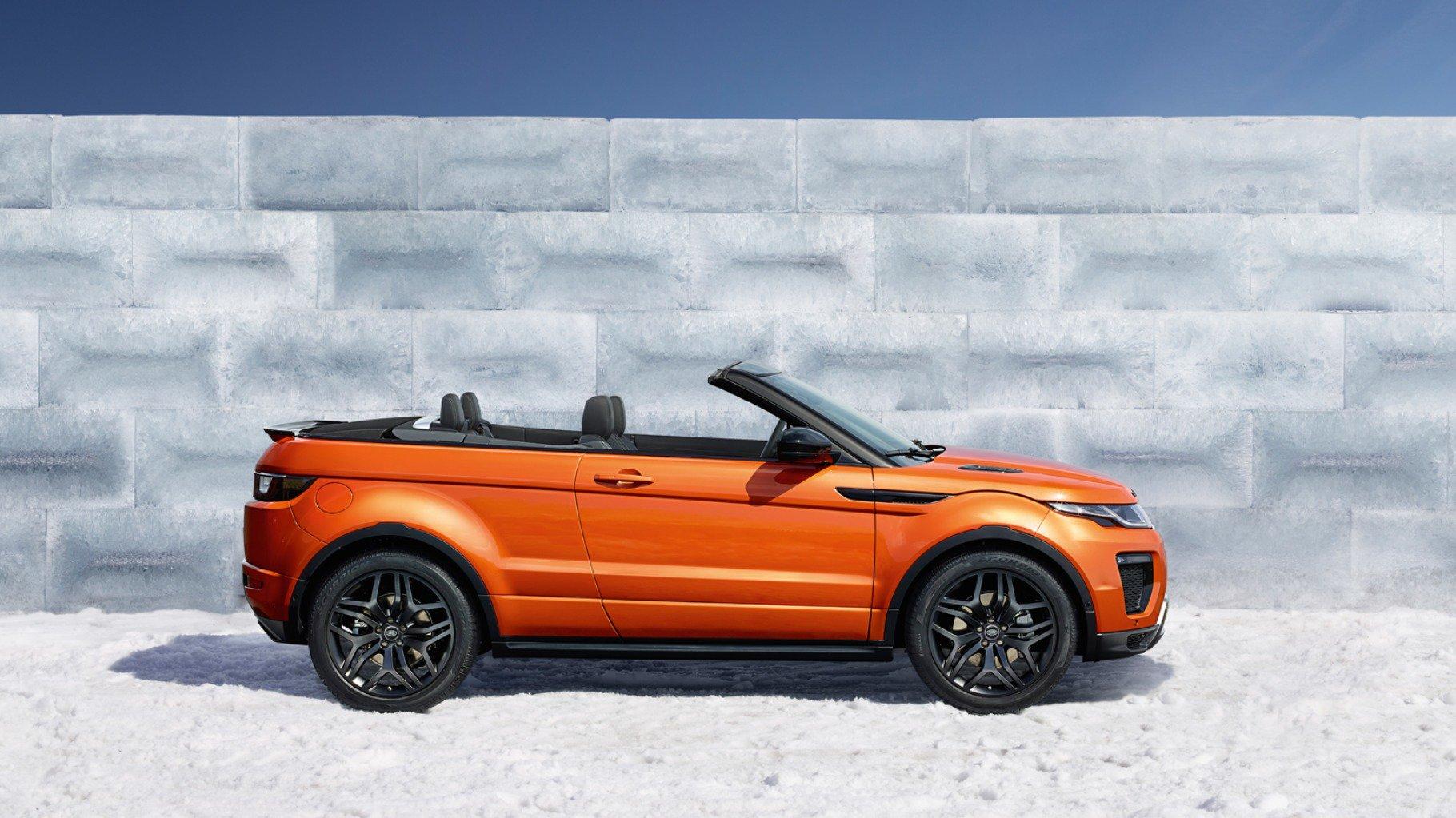 range rover evoque convertible il suv cabrio pronto per l. Black Bedroom Furniture Sets. Home Design Ideas