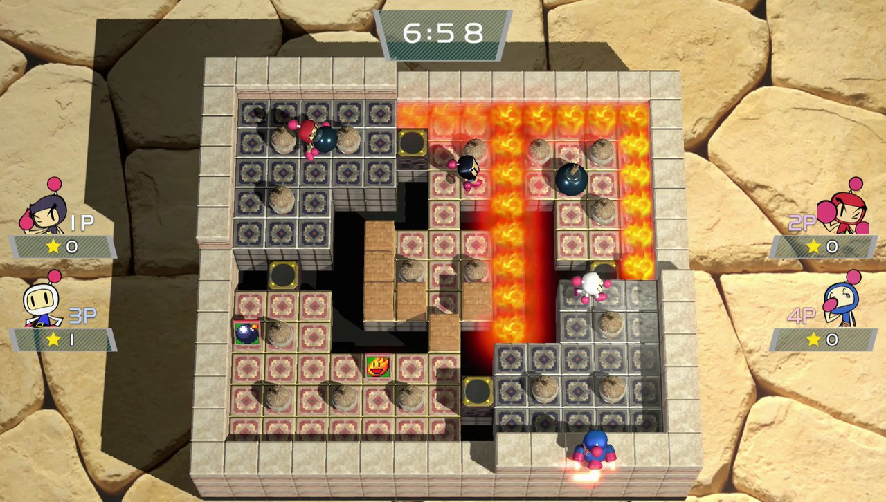 Intro e 16 minuti di gameplay di Super Bomberman R