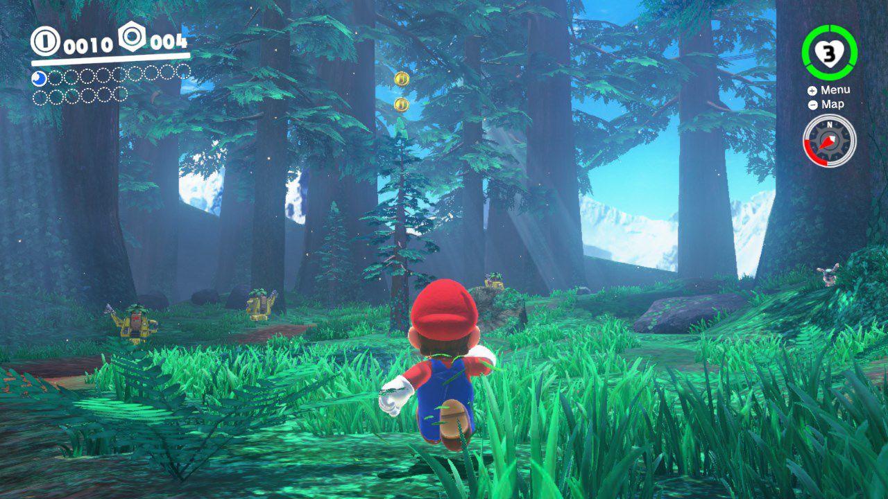 Super mario odyssey guida alle lune del regno della selva for Cabine della foresta lacustre