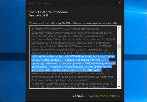 Driver di nvidia aggiungono un nvidia telemetry monitor associato
