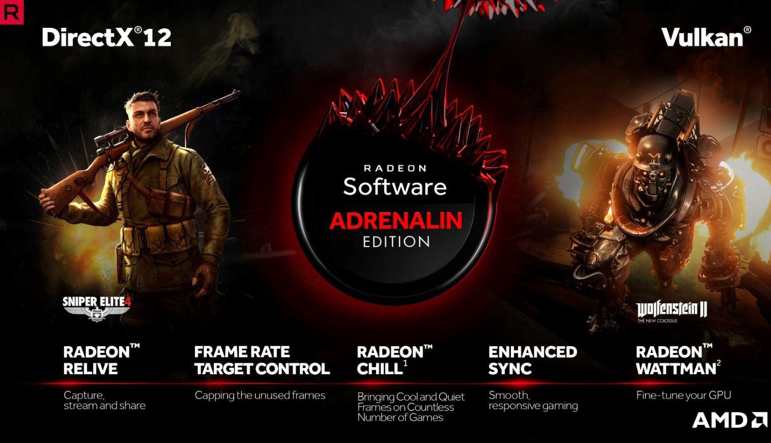 AMD riscrive i propri driver con Radeon Software Adrenalin Edition