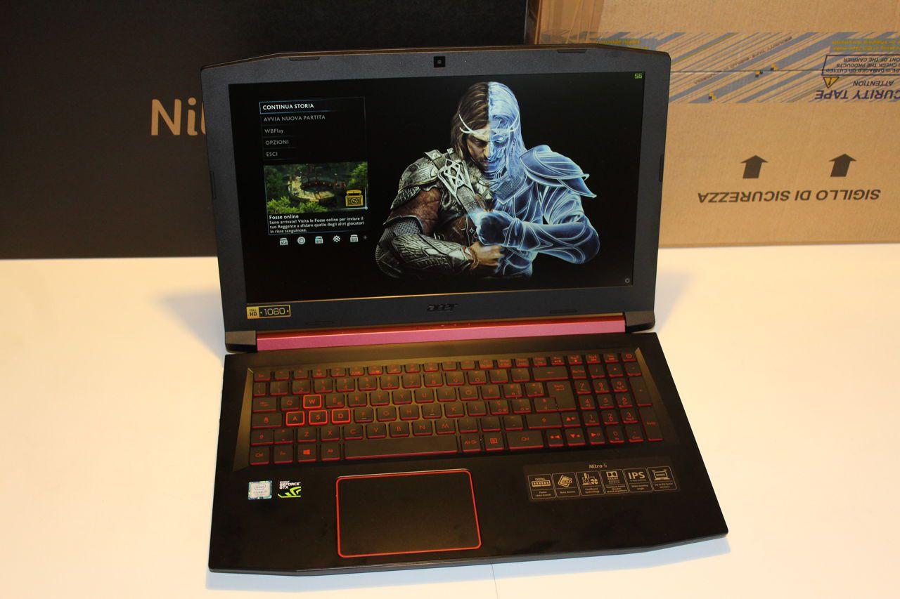 Acer nitro 5 recensione: un buon notebook per il casual gaming