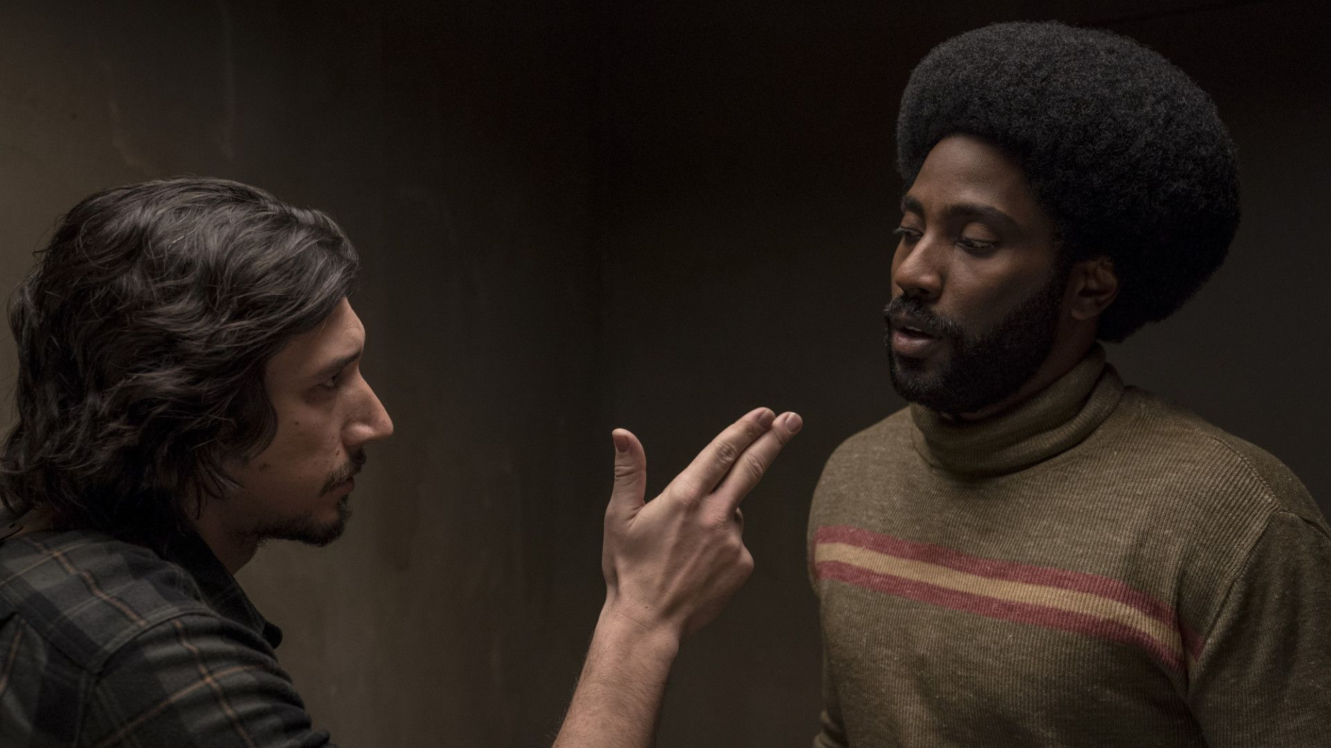 Image result for blackkklansman flip and ron