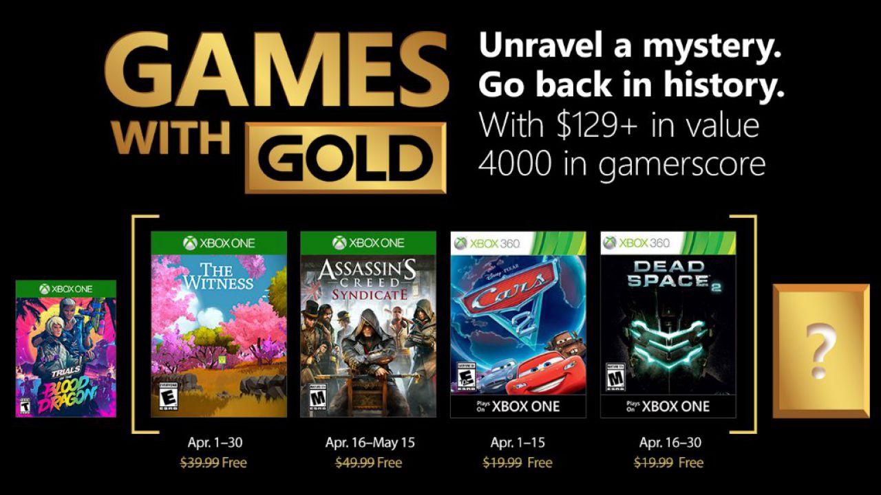 Trailer Games with Gold Aprile - Lineup di aprile 2018